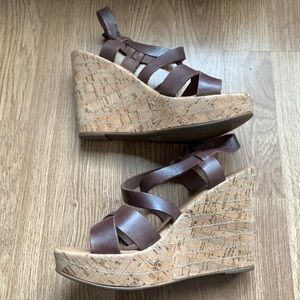 Aldo Cork Wedge Sandel with heel